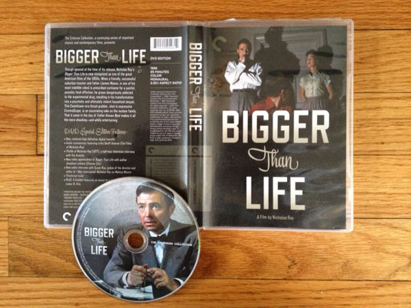 Blu-ray of the Criterion edition of BIGGER THAN LIFE