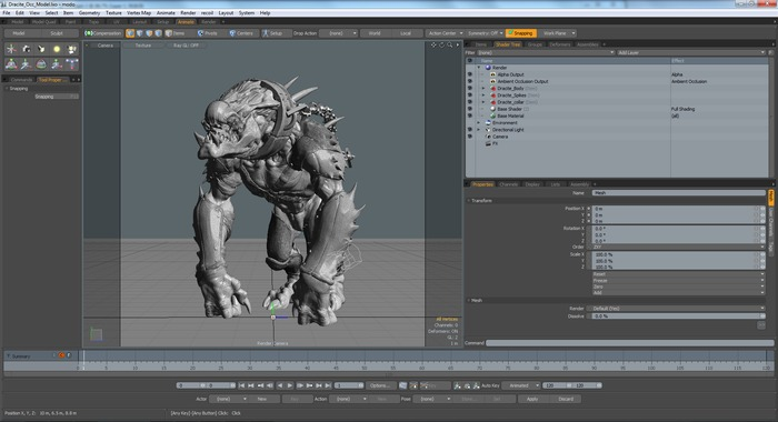 Screenshot of Dracyte in Luxology Modo software