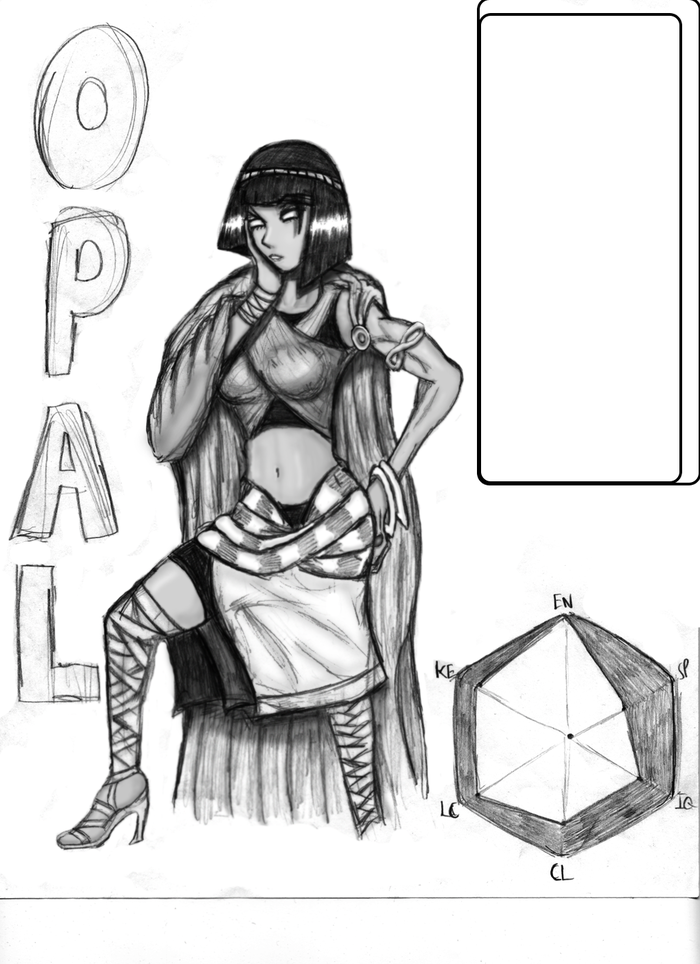 Very Early Opal Drawing