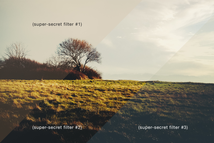 super-secret photo filters