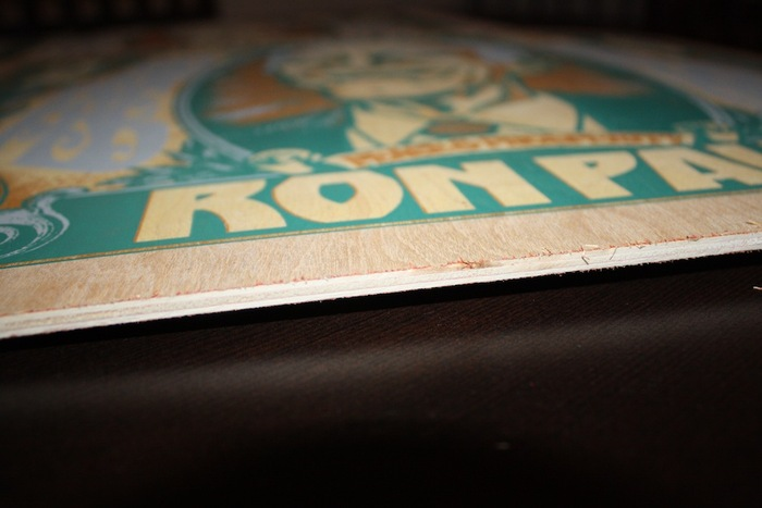 "Ron Paul ""Honest Money"" Art Print, Wood Variant"