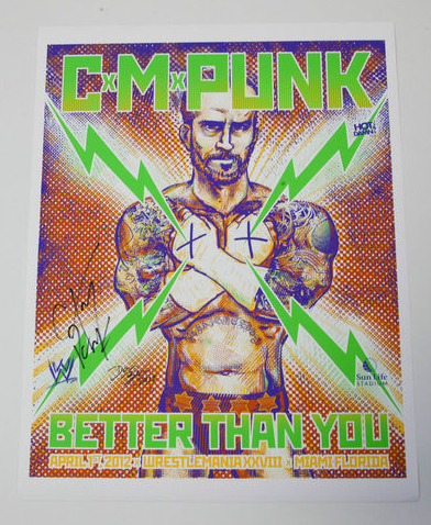 C. M. Punk WWE Art Print (signed)