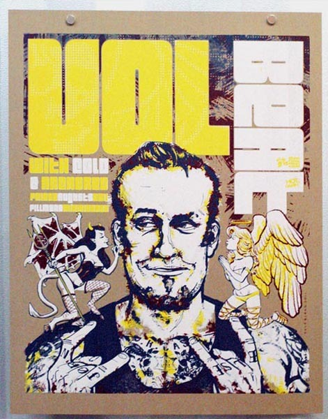 Volbeat Gig Poster (on Chipboard)