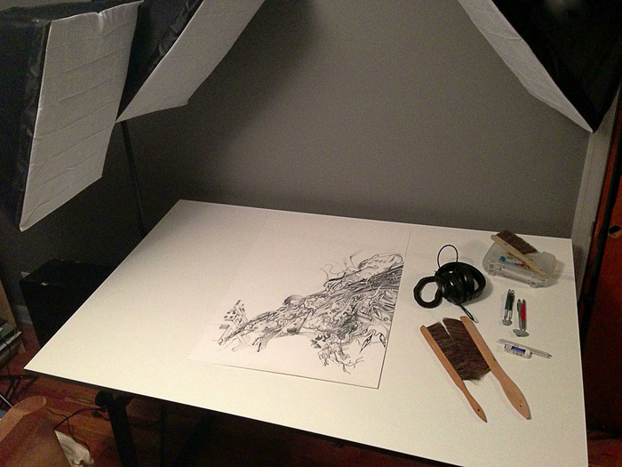 Dec. 22nd. Latest progress shot in my new studio setup. Check the Updates at the top of the page for more progress shots!