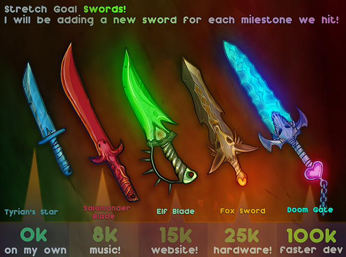 Stretch Goal Swords!