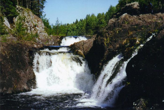 Kivach waterfall, Republic of Karelia, Russia.