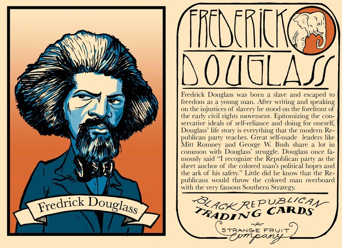 Frederick Douglass front and Back  one of the 5 rare histoical Black Republicans