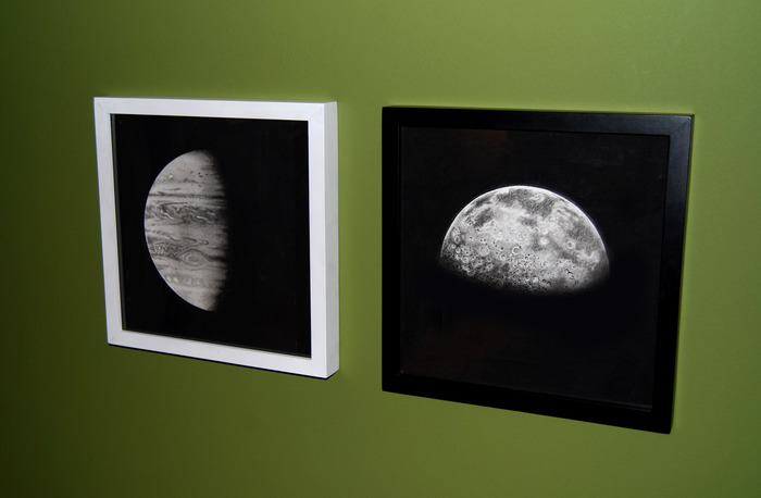 "Completed drawings of ""Jupiter"" and ""Half Moon"" (December, 2012)"