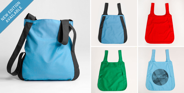 The Premium Combo Reward includes following:  1 Special Edition two-colored (blue & black) nylon Notabag, 1 rip-stop nylon Notabag (color of your choice), 1 cotton Notabag (color of your choice), 1 Kickstarter Special Edition (cotton bag with custom scree