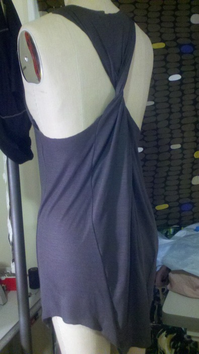 Jersey Twist-Back Tank Dress