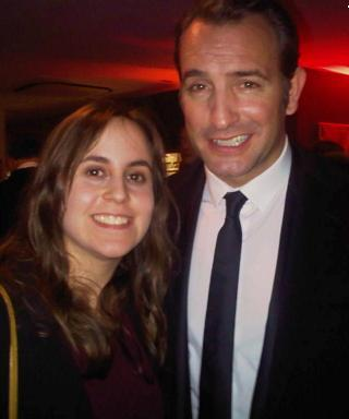 Assistant, Roxy  Simons at the 32nd London Critics' Film Awards with Jean Dujardin