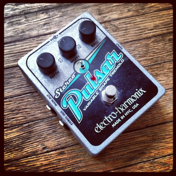 Electro Harmonix Pulsar Stereo Tremolo Pedal available, straight from Baird's pedalboard to yours for a $200 pledge [only 1 available]