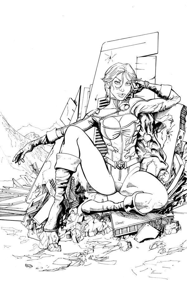 Chris Ehnot's Power Girl sketch with $80.00 pledge