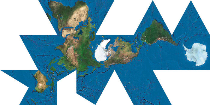 The dymaxion world map
