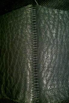 specialty OverLock leather stitching, used for all leather seaming