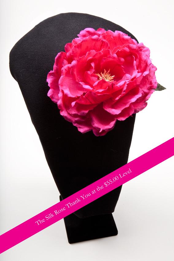 Hot pink silk rose pin... gorgeous!!