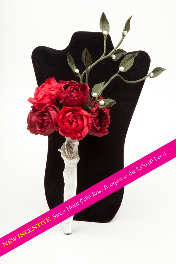 Sweetheart rose bridal bouquet... NEW REWARD!