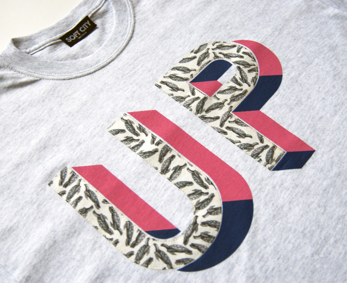 Vintage Liberties turtle print appliqued alongside screen printed letter shadow