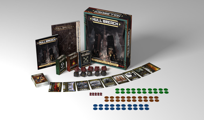 The Corporate Wars box set with all included elements.