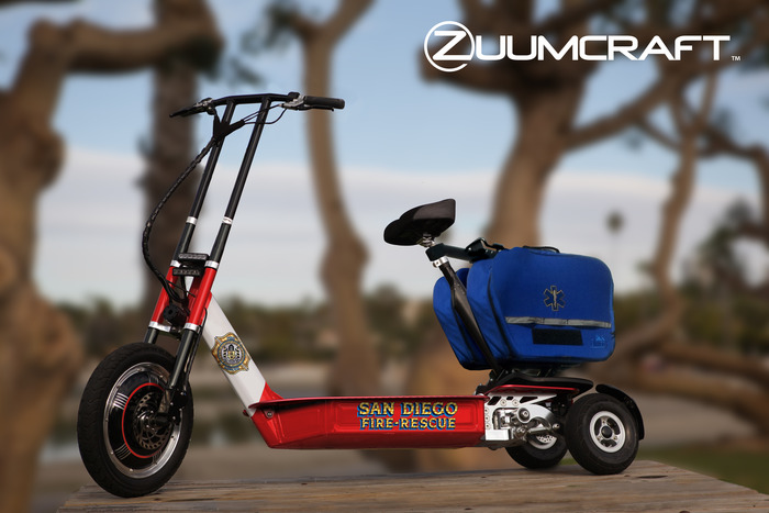 Ruggedized Zuumcraft Interceptor EMS unit for the San Diego Fire Department.