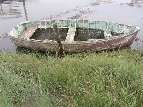 One lady with agoraphobia travelled the world in a boat! Hopefully one that was in a better state than this!