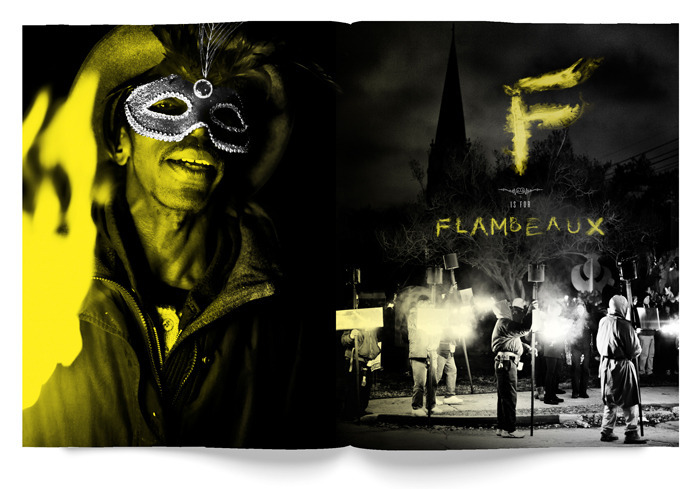 F is for Flambeaux spread