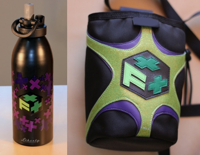 F++ Water bottle and Chalk bag
