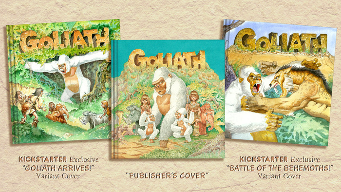 "In addition to the ""PUBLISHER'S COVER,"" Mike Ploog has created two alternative cover paintings specifically for Kickstarter supporters."