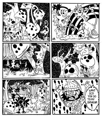 Tara Hayes: Tara enjoys to transport the viewer into a whimsical world in her children comics, with silly antics and imaginative creatures.