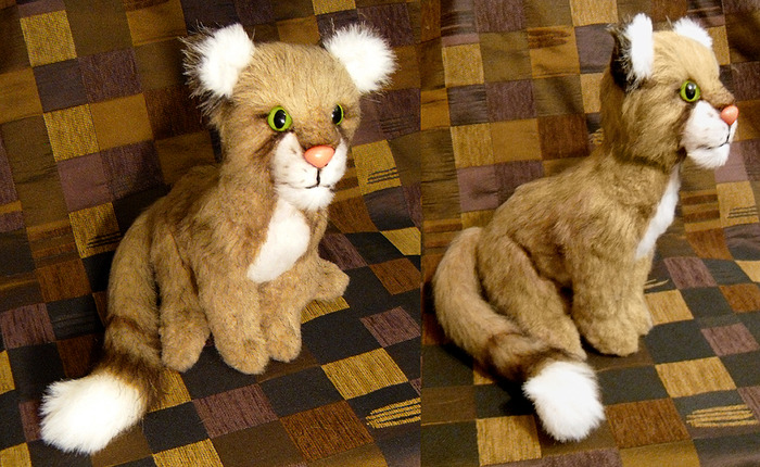 Hand made clan cat plushie by Lew Lashmit