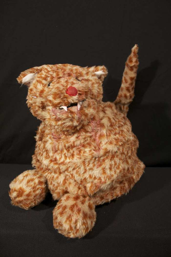 Cat Puppet - This kitty is from the Cat Lady's herd.  In life, he was quite partial to Meowy Morsels.  In death, biting the hand that fed him became his favorite.