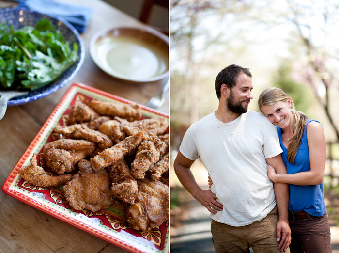 Erica and Joel, with Fried Chicken