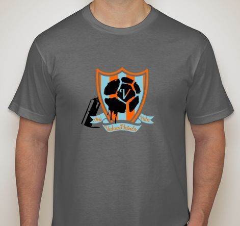Mock-up of the official tee of VelociPrints: On the Pitch! Final design may differ slightly.