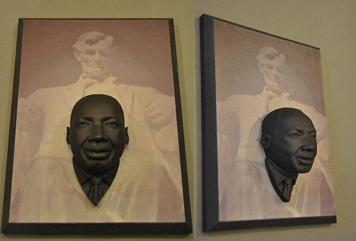 Photo #10 MLK relief sculpture with Lincoln