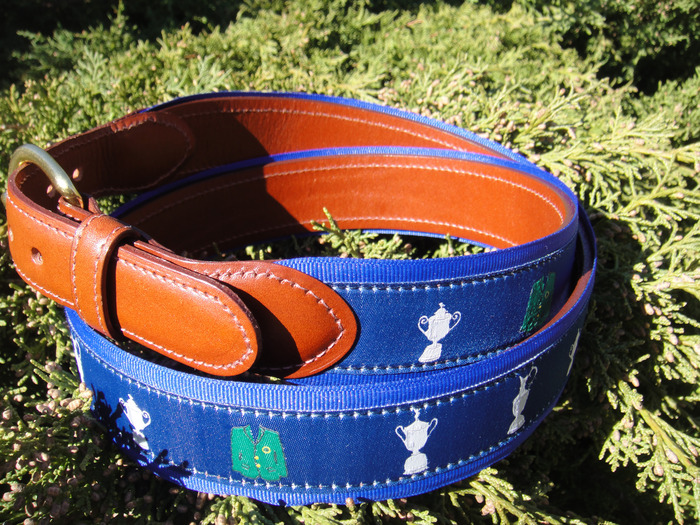The Four Majors Leatherback Tabbed Belt