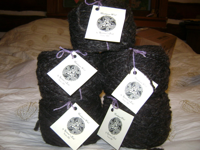 Handspun wool from our animals
