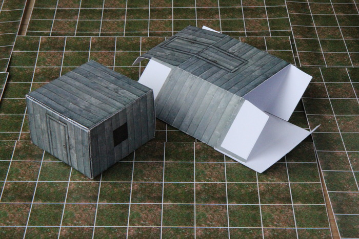 small building - shown folded flat