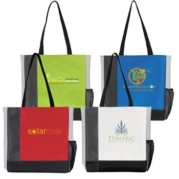 This is the tri tone tote.  Again, picture it with the Paul Friedrich logo.