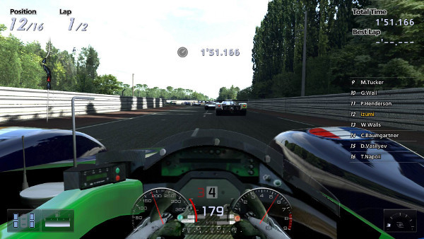 In-simulation Driver's View