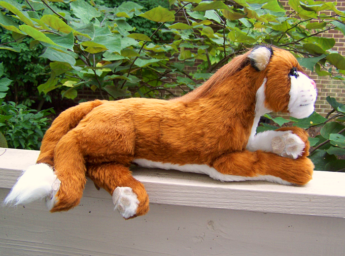 Custom Thakur plushie hand made by Lew Lashmit for a commission.
