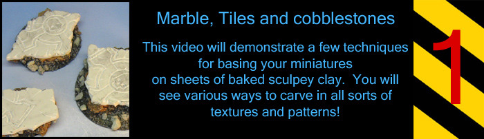 This is one of a number of basing videos showing how to use Sculpey clay.