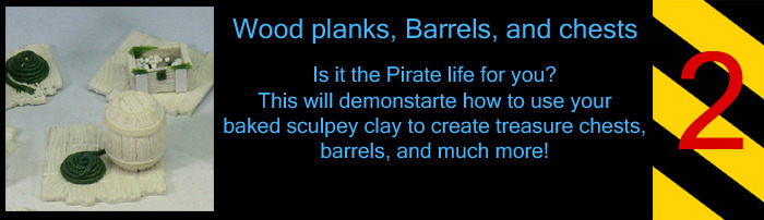 Yar!  Whether it's Pirate theme bases or even a tavern, use sculpey to create a fun scene for your mini.