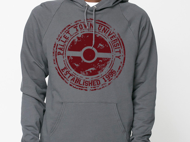 Now Available!  Red Pallet Town University design on hoodie!
