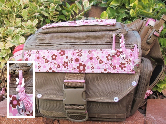 Zipper Pull on Tactical Diaper Bag