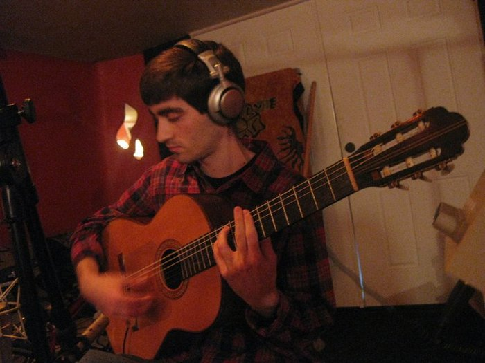 Recording my previous CD at Earthtone Studies in Minneapolis, MN (2011)