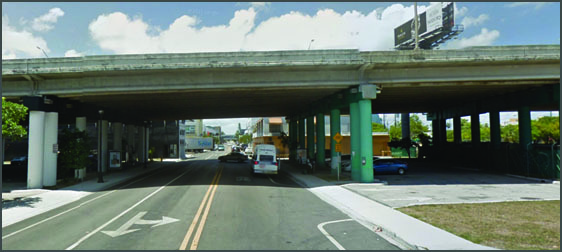 Site- Overpass on NE 2nd Ave and 36th Street