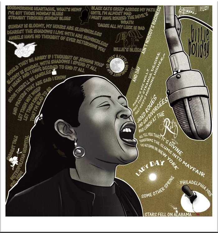 Billie Holiday-1st panel of triptych