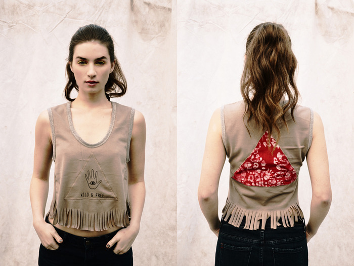 Exclusive Wild+Free Tank Top in brown