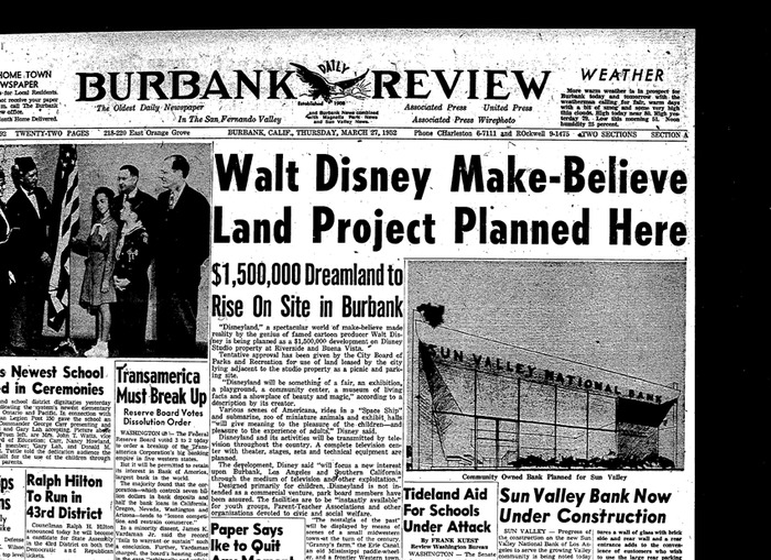 Yes, Disneyland almost happened in Burbank! (Burbank Review)