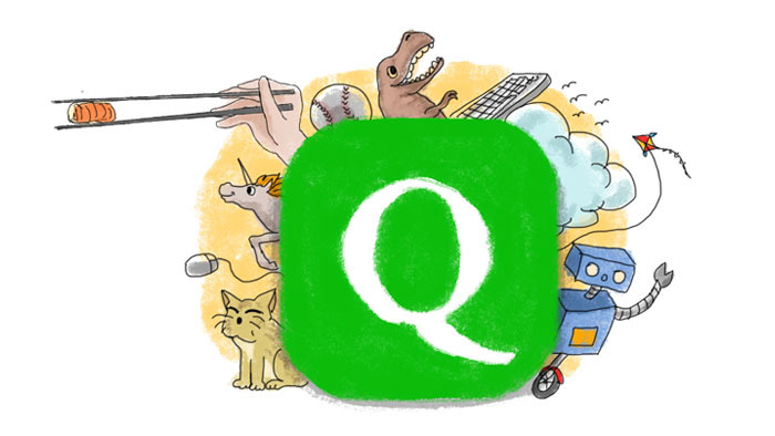 The Qwanz app can also be used for fun.